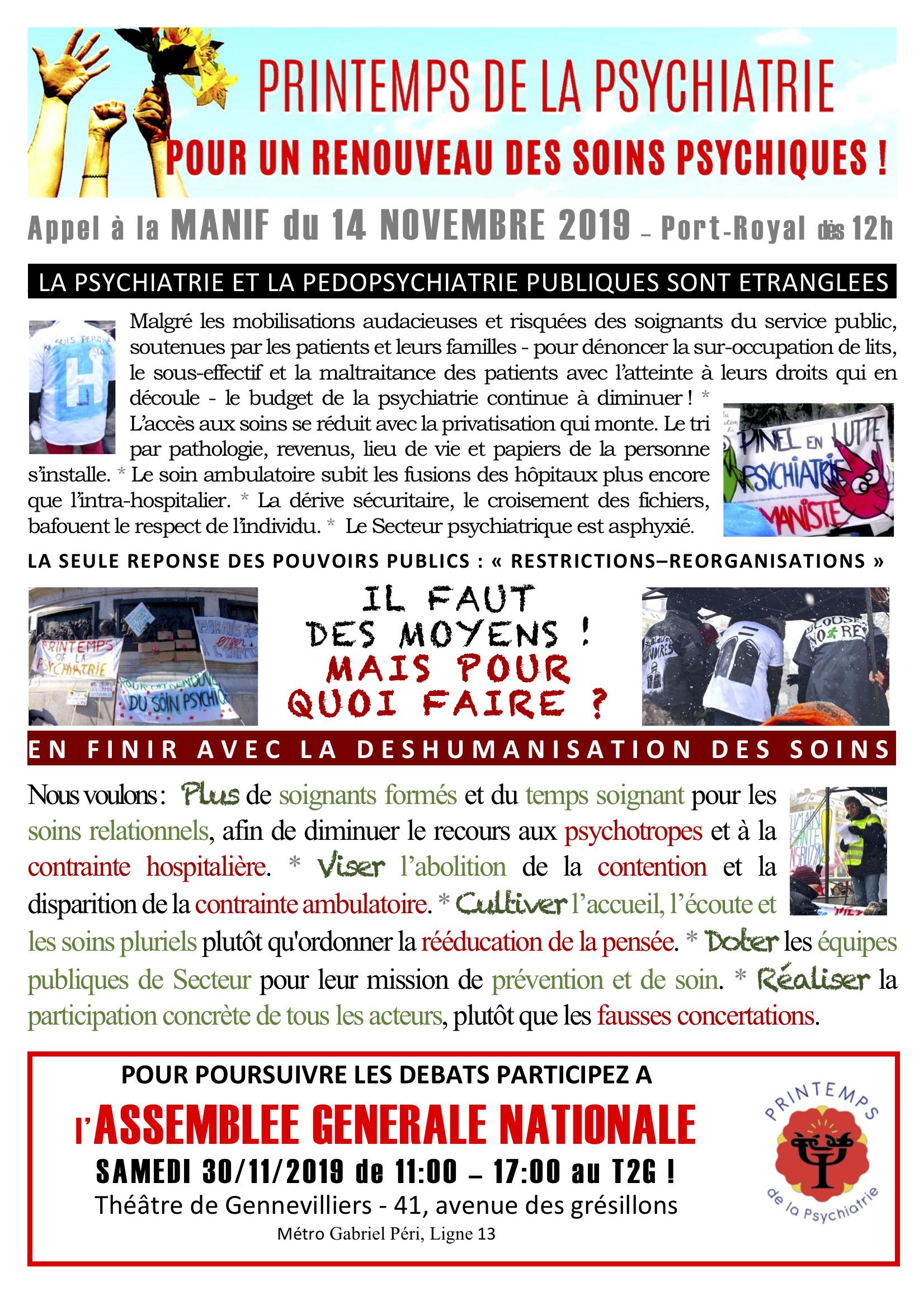 Acte 3 Printemps de la psychiatrie 14.11.2019